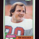1981 Topps Football #159 Don Hasselbeck - New England Patriots