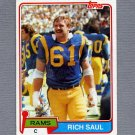 1981 Topps Football #141 Rich Saul - Los Angeles Rams Vg
