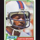 1981 Topps Football #133 Curtis Brown - Buffalo Bills