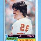 1981 Topps Football #130 Gary Barbaro - Kansas City Chiefs VgEx