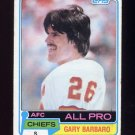 1981 Topps Football #130 Gary Barbaro - Kansas City Chiefs G