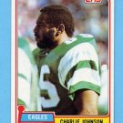 1981 Topps Football #092 Charlie Johnson - Philadelphia Eagles