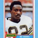 1981 Topps Football #091 Ike Harris - New Orleans Saints