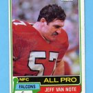 1981 Topps Football #070 Jeff Van Note - Atlanta Falcons
