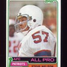 1981 Topps Football #060 Steve Nelson - New England Patriots
