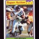 1981 Topps Football #059 Ted Brown SA - Minnesota Vikings
