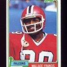 1981 Topps Football #051 Wallace Francis - Atlanta Falcons