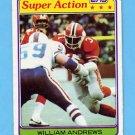 1981 Topps Football #028 William Andrews SA - Atlanta Falcons