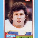 1981 Topps Football #023 Louie Kelcher - San Diego Chargers