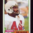 1981 Topps Football #007 Don Calhoun - New England Patriots