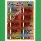 1995 Topps Football #468 Checklist 358-468