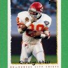 1995 Topps Football #182 Greg Hill - Kansas City Chiefs
