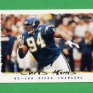1995 Topps Football #123 Chris Mims - San Diego Chargers