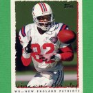 1995 Topps Football #113 Vincent Brisby - New England Patriots