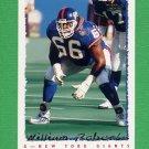 1995 Topps Football #072 William Roberts - New York Giants