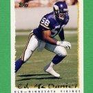 1995 Topps Football #069 Ed McDaniel - Minnesota Vikings