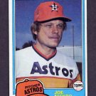 1981 Topps Baseball #722 Joe Niekro - Houston Astros
