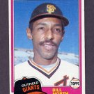1981 Topps Baseball #713 Bill North - San Francisco Giants