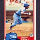 1981 Topps Baseball #692 Lenny Randle - Chicago Cubs