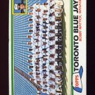 1981 Topps Baseball #674 Toronto Blue Jays Team Checklist / Bobby Mattick MG