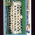 1981 Topps Baseball #661 Baltimore Orioles Team Checklist / Earl Weaver MG