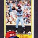 1981 Topps Baseball #631 Ron Jackson - Minnesota Twins