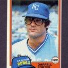 1981 Topps Baseball #610 Darrell Porter - Kansas City Royals ExMt