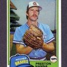 1981 Topps Baseball #594 Preston Hanna - Atlanta Braves NM-M