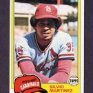 1981 Topps Baseball #586 Silvio Martinez - St. Louis Cardinals NM-M