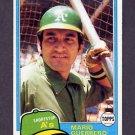 1981 Topps Baseball #547 Mario Guerrero - Oakland A's