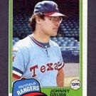 1981 Topps Baseball #545 Johnny Grubb - Texas Rangers ExMt