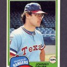 1981 Topps Baseball #545 Johnny Grubb - Texas Rangers Ex