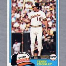 1981 Topps Baseball #543 Terry Crowley - Baltimore Orioles NM-M