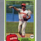 1981 Topps Baseball #447 Junior Kennedy - Cincinnati Reds NM-M