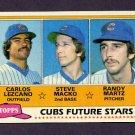 1981 Topps Baseball #381 Carlos Lezcano RC / Steve Macko / Randy Martz RC - Chicago Cubs