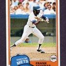 1981 Topps Baseball #343 Frank Taveras - New York Mets