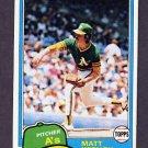 1981 Topps Baseball #301 Matt Keough - Oakland A's