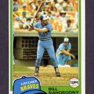 1981 Topps Baseball #296 Bill Nahorodny - Atlanta Braves NM-M