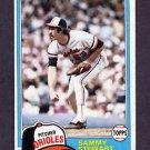 1981 Topps Baseball #262 Sammy Stewart - Baltimore Orioles