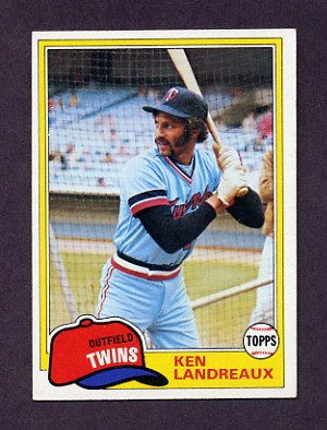 1981 Topps Baseball #219 Ken Landreaux - Minnesota Twins