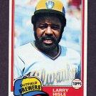 1981 Topps Baseball #215 Larry Hisle - Milwaukee Brewers
