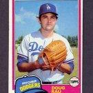 1981 Topps Baseball #174 Doug Rau - Los Angeles Dodgers