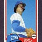 1981 Topps Baseball #136 Doug Capilla - Chicago Cubs