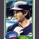 1981 Topps Baseball #121 Larry Harlow - California Angels ExMt