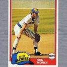 1981 Topps Baseball #106 Don Money - Milwaukee Brewers ExMt