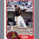 1981 Topps Baseball #072 Barry Evans RC - San Diego Padres ExMt