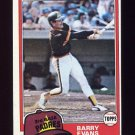 1981 Topps Baseball #072 Barry Evans RC - San Diego Padres Ex