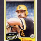 1981 Topps Baseball #051 Bill Robinson - Pittsburgh Pirates ExMt