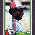 1981 Topps Baseball #042 Jerry White - Montreal Expos