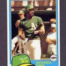 1981 Topps Baseball #035 Mitchell Page - Oakland A's